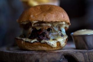 Coggings and Co page - burger deliveries via Deliveroo