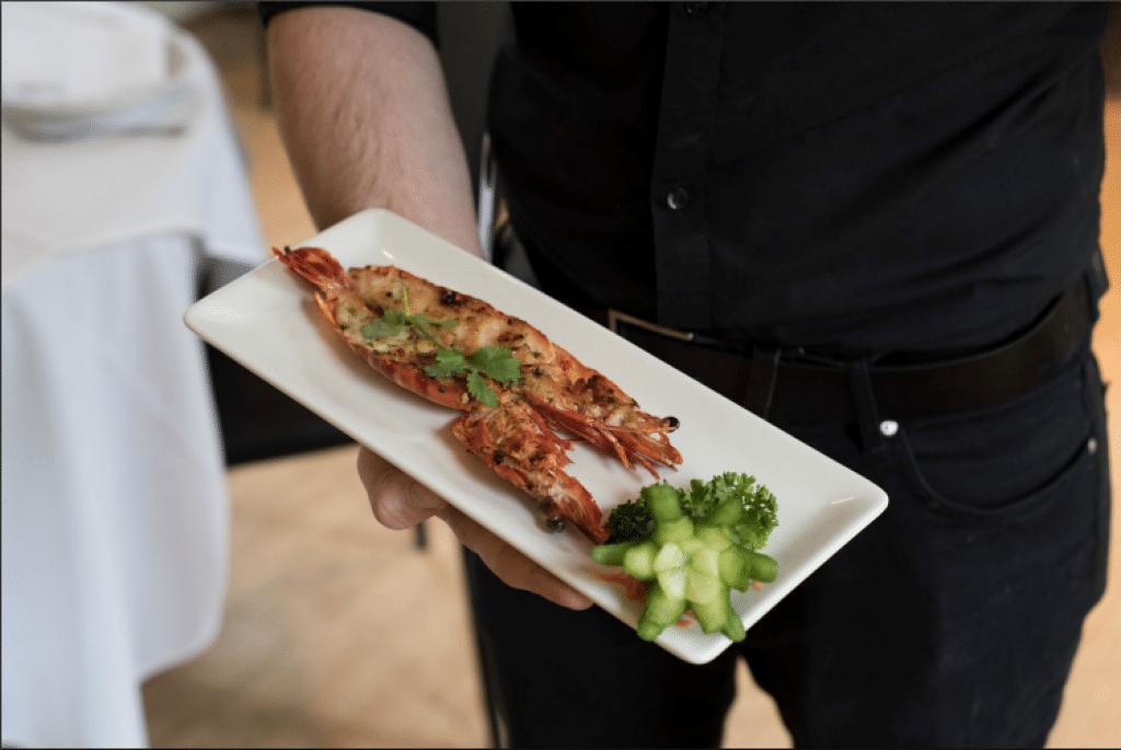 Prawn starter at Gars Restaurants Brighton - Gars Brighton