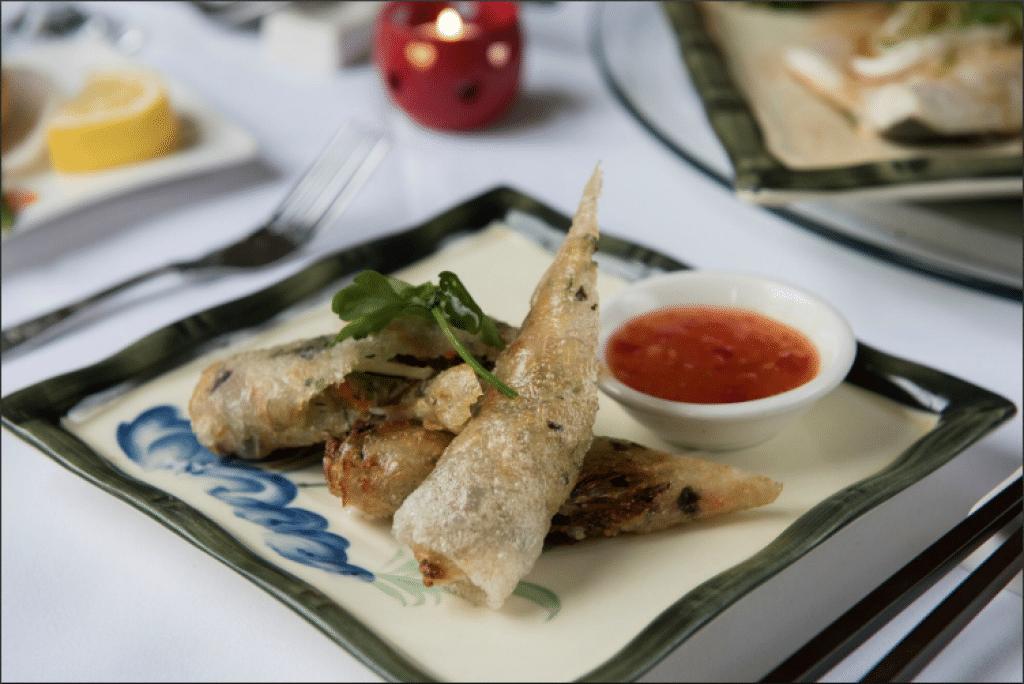 Seaweed crispy greens deep fried at Gars Restaurants Brighton - Gars Brighton