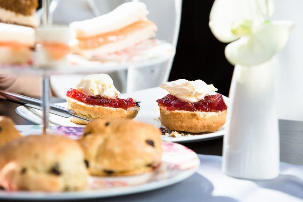 Afternoon tea and scones at Wickwoods