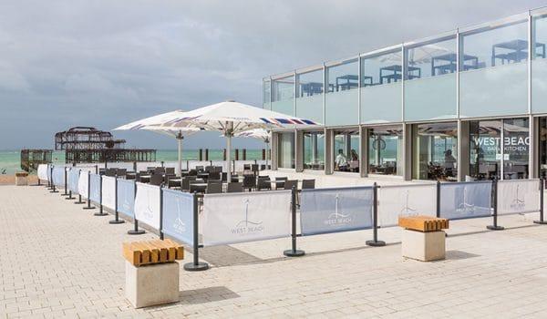 West Beach Bar and Kicten Best Family Friendly Brighton Restaurant Awards BRAVO