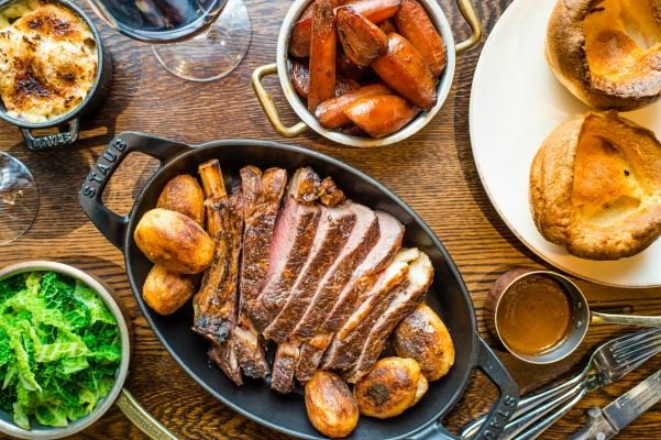 sharing roast at the coal shed in brighton