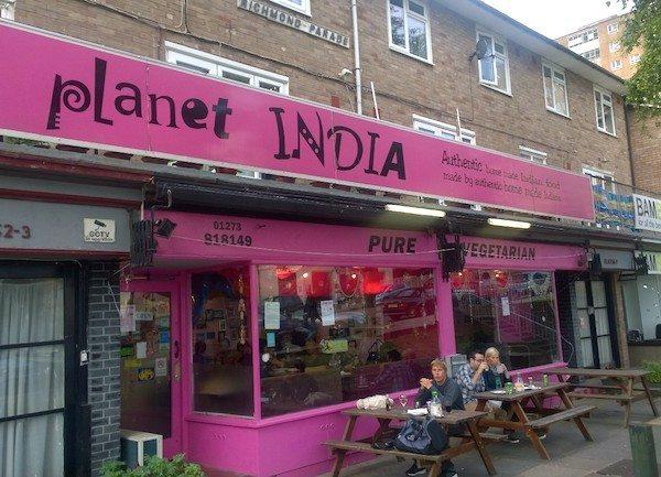 Planet India, Indian restaurant, vegetarian, Brighton