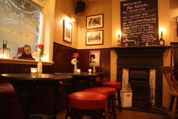 pubs with fires, The Lord Nelson Inn, Brighton, North Laine, Trafalgar Street
