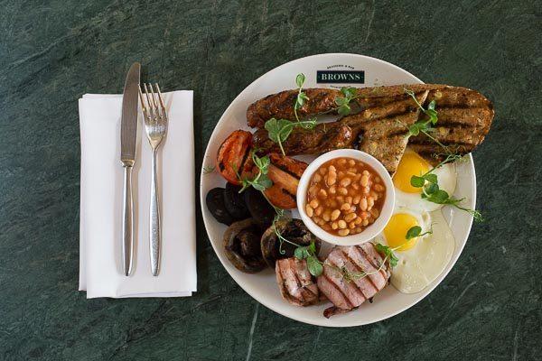 Full English at Browns Restaurant Brighton