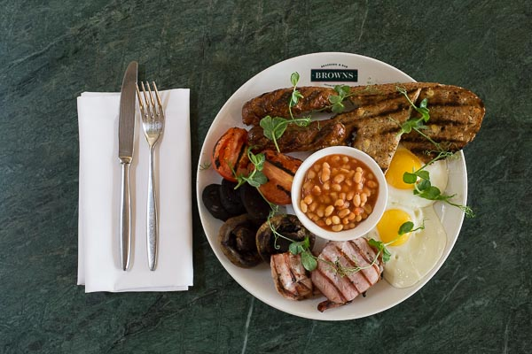 Full English at Browns Restaurant Brighton