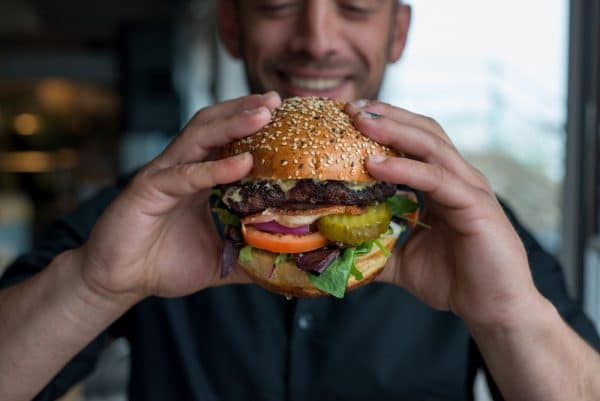 Burger at Oh So Social in Brighton