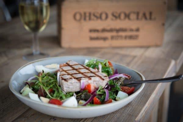 Tuna salad at Oh So Social in Brighton- Lunch in Brighton