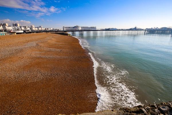 Brighton seafront, pier, beach