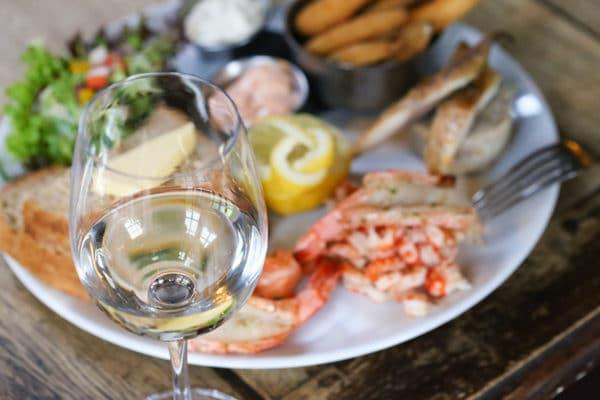 Wine and seafood, food pubs Brighton