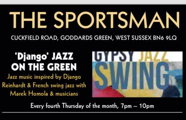 Django Jazz at the sportsman pub goddards green