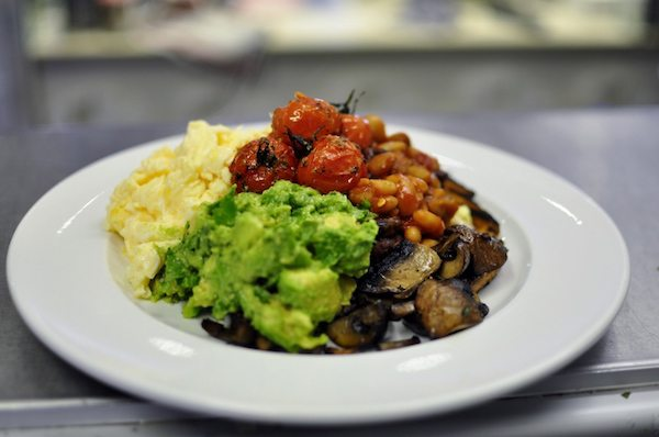 V and H cafe, vegetarian breakfast, Hove