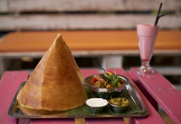 Dosa at Chilli Pickle - Side view
