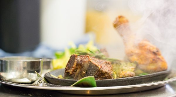 Sizzling Meat Platter at Indian Summer - Brighton Food Photography