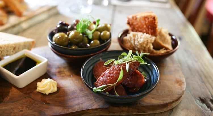 Chorizo and olives