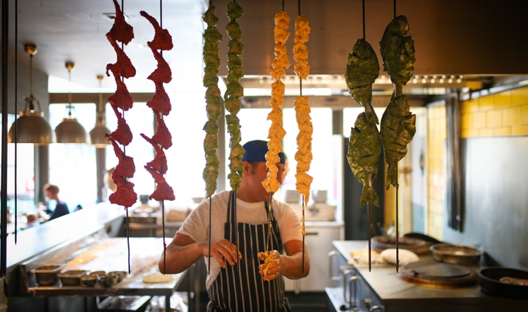 The tandoor at The Chilli Pickle Brighton