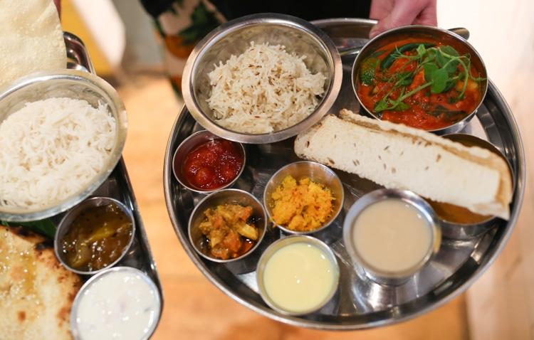 Maincourse dishes at The Chilli Pickle Brighton