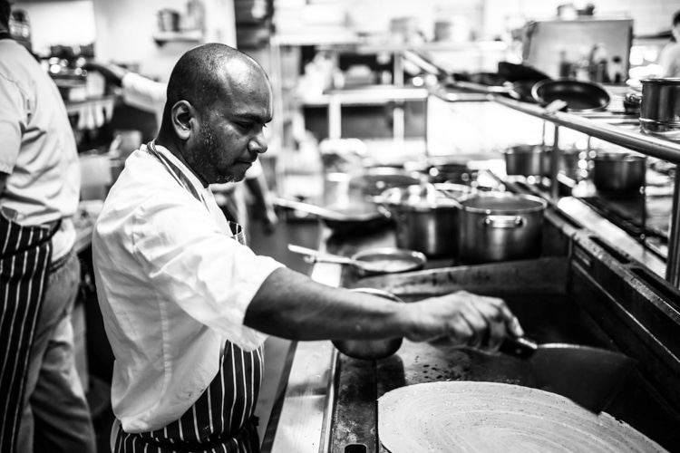 In teh kitchen at The Chilli Pickle Brighton