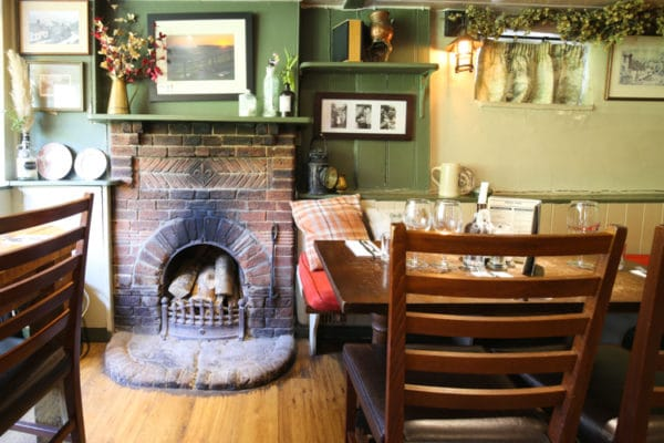 pubs with fires, Interior at The Shepherd and Dog