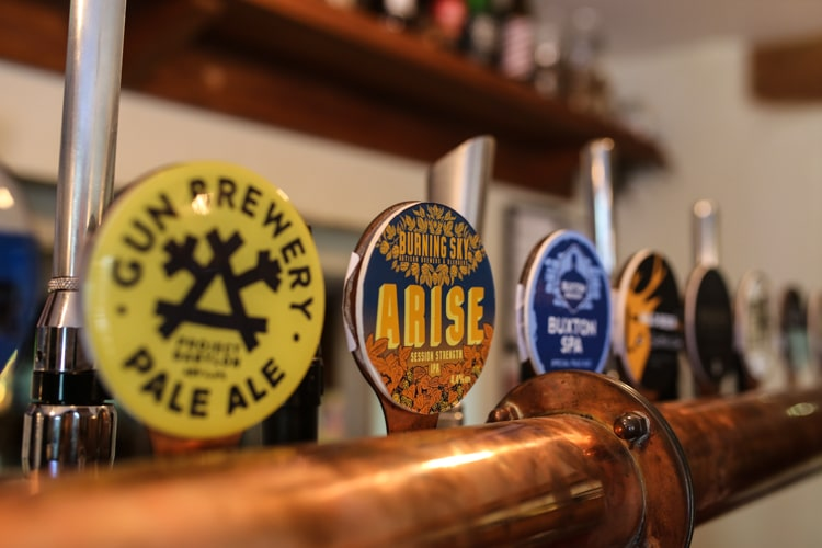 Ales available at the Shepherd and Dog