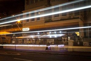 Night exterior of Avenue restaurant and home bar, Church Road, Hove