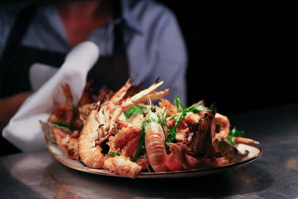 Seafood platter on the pass