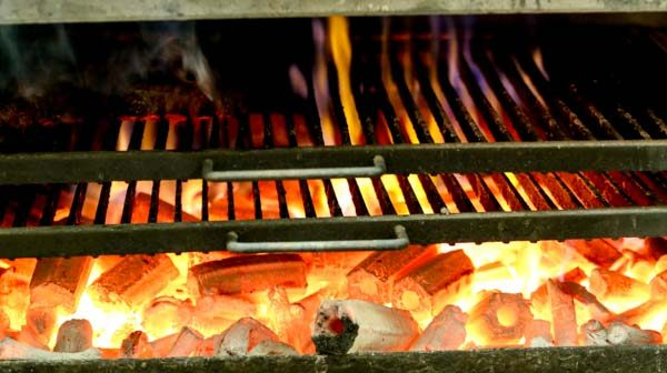 The hot Josper oven at the Salt Room