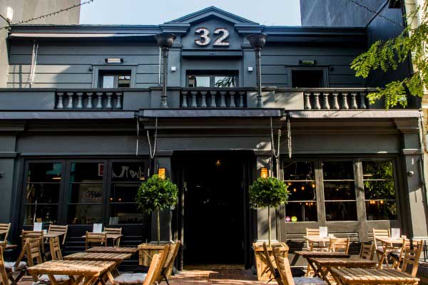 Exterior at No 32, bar, restaurant, and club, Duke Street, Brighton