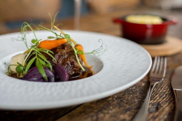 Beef dish at Brightons Grow 40