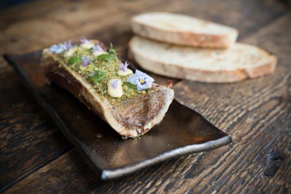 Bone Marrow dish at Grow 40 in Brighton