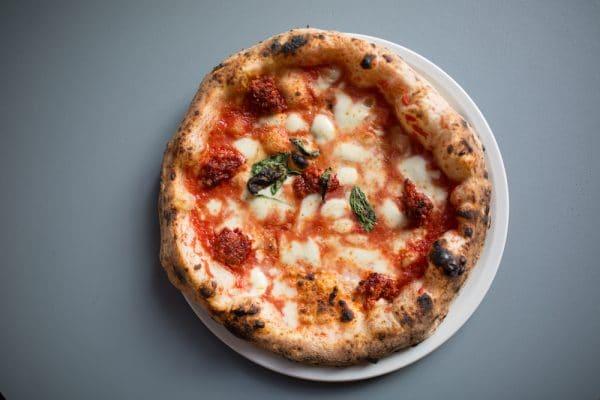 Pizza at Nuposoto, Brighton Italian restaurant
