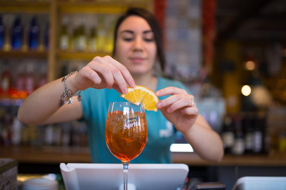 Aperol at Nuposto, Brighton Pizzeria