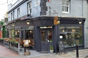 Outside view of Grow40, kitchen roof garden , North Laine, Brighton