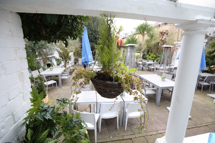 The garden at Hove Place gardens and Bistro