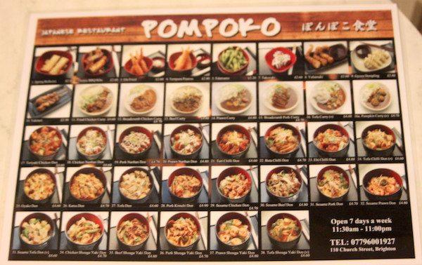 Japanese Restaurant, Church St, Brighton, Pre-Theatre, Pompoko - Cheap Restaurants Brighton