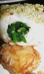 Plaice and Garlic Spinach Paupiettes