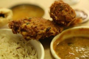 Samosa, Chilli Pickle restaurant Canteen, Brighton