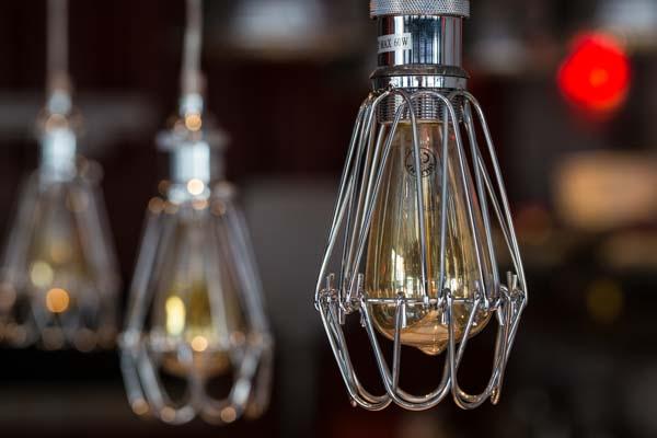 Light filaments at Morelli Zorelli, Pizza Restaurant, Hove