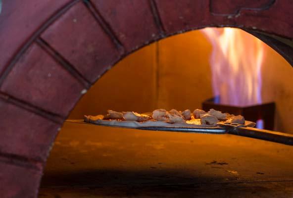 Pizza oven at Morelli Zorelli