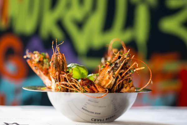King size prawns - Morelli Zorelli, Pizza Restaurant, Hove