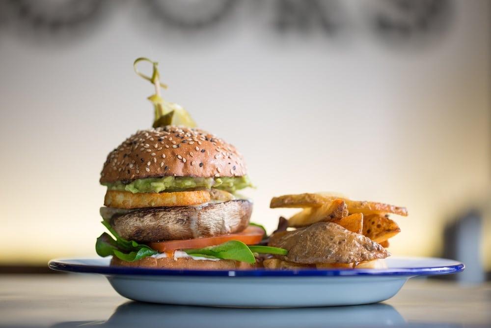 Veggie Burger at Kooks Brighton