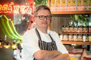 2015-05-14 Alun Sperring, owner/head chef at The Chilli Pickle, Brighton, East Sussex, UK photo ©Julia Claxton