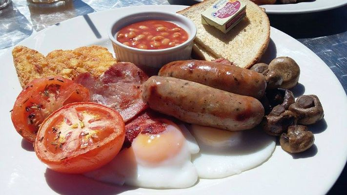One of Brighton's best venues for a seafront breakfast - The Bucket and Spade Cafe