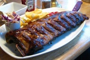 the old bank, rib and wings night, review, restaurant, brighton, kemptown