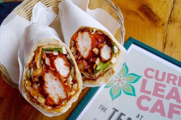 Curry Leaf Cafe Brighton, chicken wrap