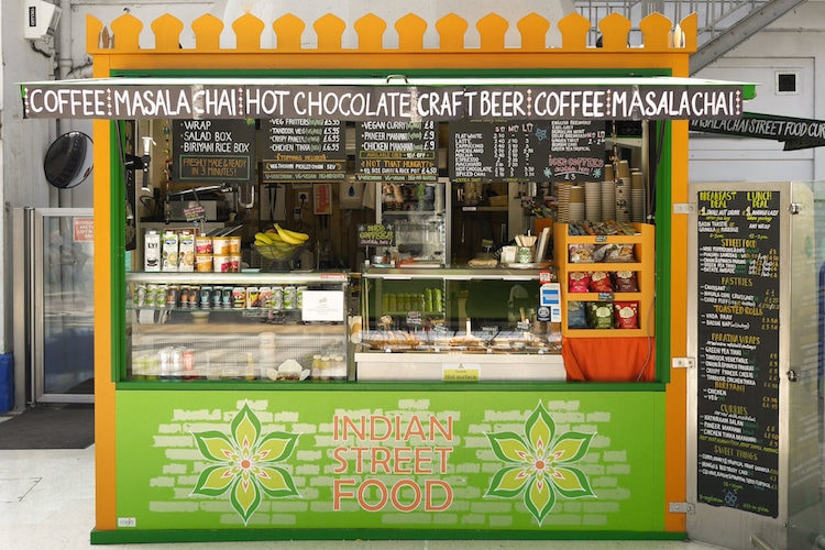 Curry Leaf Cafe Brighton, kiosk at Brighton station