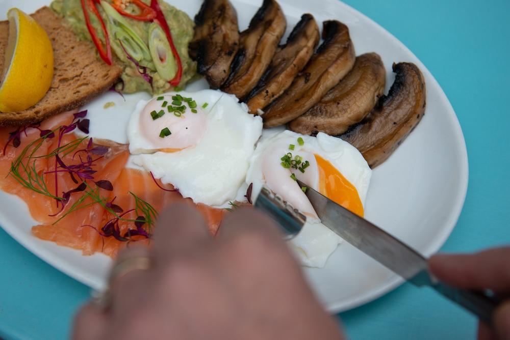 Smoked salmon at Joes Cafe Brighton