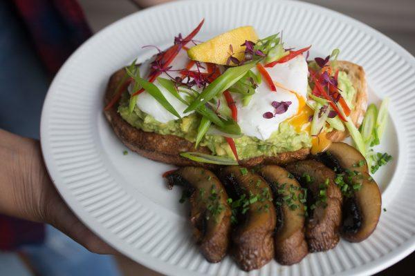 Smashed avocado at Joe's Cafe Restaurants Brighton