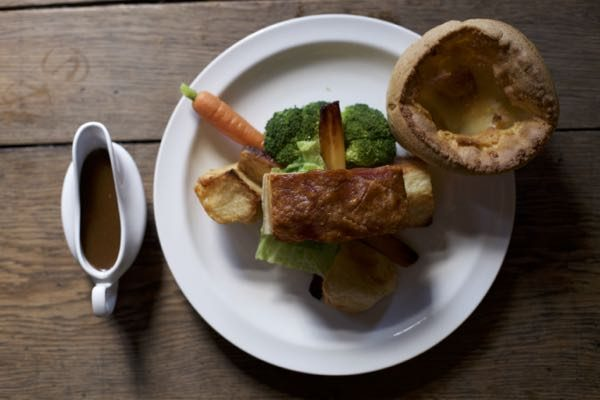 Sunday roast, The Better Half, Hove , from above