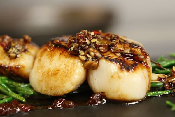 Gb1 Restaurant, Brighton, Grand Hotel, Sussex Scallops, How to Cook Scallops